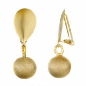 Marcia's 18k Gold Plated Clip-on Dangle Earrings