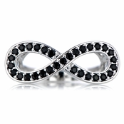 Maria's Simulated Black Diamond Infinity Ring