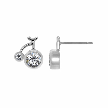 Marianne's Cubic Zirconia Bicycle Stud Earrings