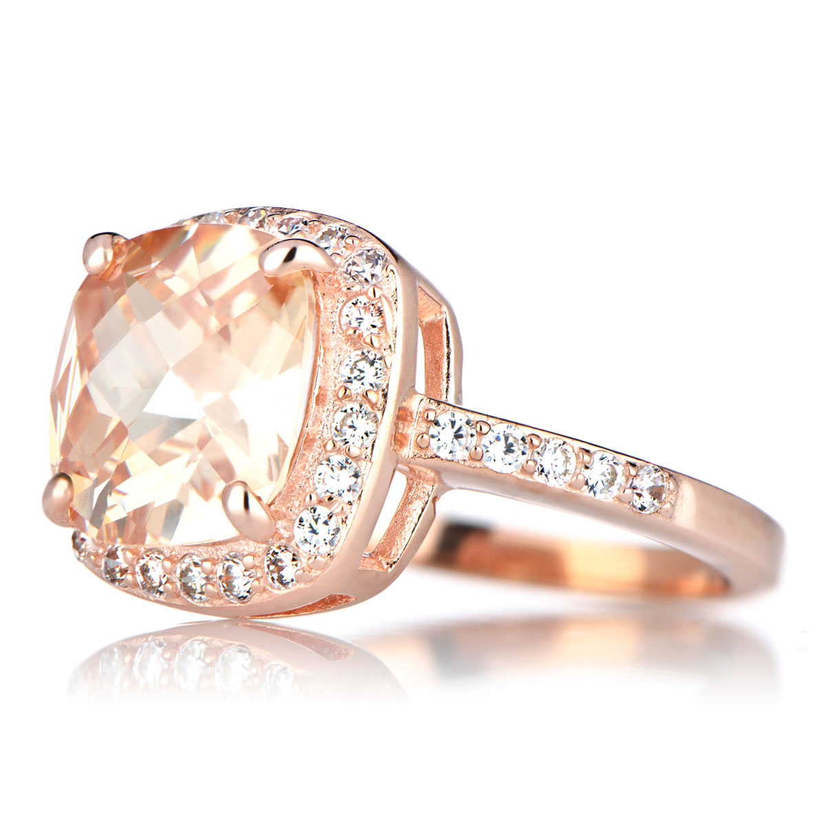 Rose Gold Engagement Rings Rose Gold Engagement Rings Cushion Cut