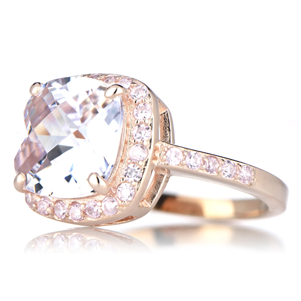 Cushion Cut Diamond Cushion Cut Diamond Rose Gold Engagement Rings