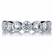 Marion's Art Deco Round Cut CZ Eternity Ring