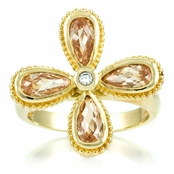 Marisa's Champagne CZ Flower Statement Ring