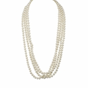 Marissa's Faux Pearl Necklace 120""