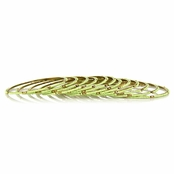 Maro's Lime Green Beaded Bangle Bracelet Set