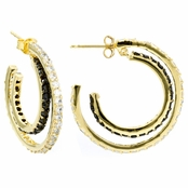 Marquita's Double Hoop CZ Earrings