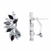Maxine's Marquise Cut Clear and Mystic Topaz CZ Cluster Earrings