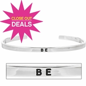 Silvertone Stackable Bracelet: BE