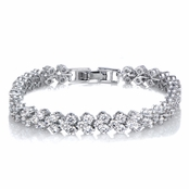 Melia's 7in Triple Row Cubic Zirconia Tennis Bracelet