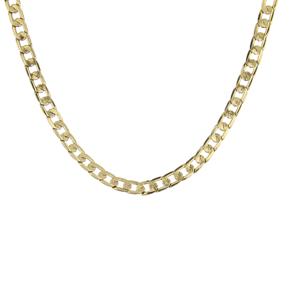 s goldtone cuban link necklace chain 19 inches