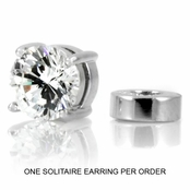 Men's Stud Non Pierced Magnetic Earring - Clear (1 earring)