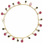Merche's Synthetic Ruby & Black CZ Bracelet