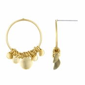 Milena's 18k Gold Plated 37mm Hoop Earrings