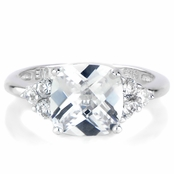 Millie's Cushion Cut Anniversary Ring - CZ