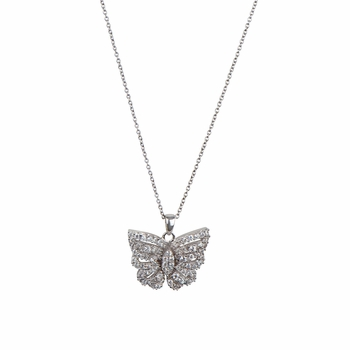 Mimi's Pave CZ Butterfly Necklace