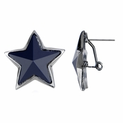 Mireille's Navy & Gunmetal Jumbo Star Earrings