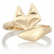 Misty's Gold Tone Adjustable Fox Ring