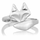 Misty's Silver Tone Adjustable Fox Ring