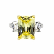 Montbeliard Canary Cocktail Ring - 9 TCW