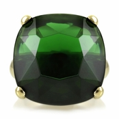 Morgan's Faux Emerald Ring - Gold Plated