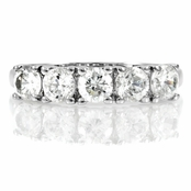 Moxie's Silver Stackable Ring- Simulated Diamond