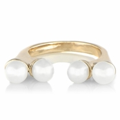 Nadya's Double Faux Pearl Ring