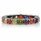 Nancy's Stackable Eternity Band Ring - Multi-Color - Final Sale