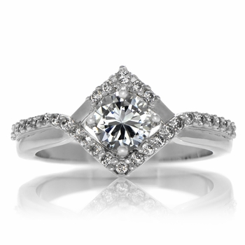 Natalie's Round Cut Vintage Style Engagement Ring - 0.5 Carats