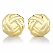 Neema's Gold Tone Love Knot Magnetic Earrings