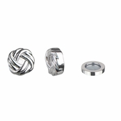 Neema's Silvertone Love Knot Magnetic Earrings