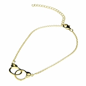 "Neila's Handcuff Bracelet - Gold Plated - 6-8"" adjustable"