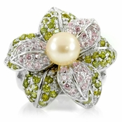 Nell's Flower Ring - Cultured Freshwater Pearl