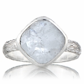 Nev's Genuine Moonstone Cushion Cut Right Hand Ring