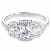 Nikki's Fancy Cubic Zirconia Engagement Ring