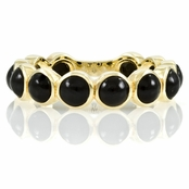 Nina's Goldtone Eternity Ring - Black CZ