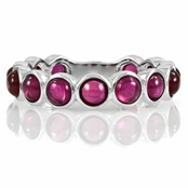 Nina's Sterling Silver Eternity Ring- Pink