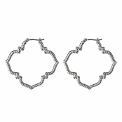 Niya's Silver Flower Hoop Earrings