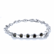 Nola's 7in Round Cut Mulit-Color CZ Link Bracelet