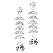 Outlet Item: Janine's Pear Drop CZ Earrings