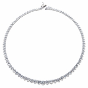 Padme's 16in Graduated Round CZ Tennis Necklace