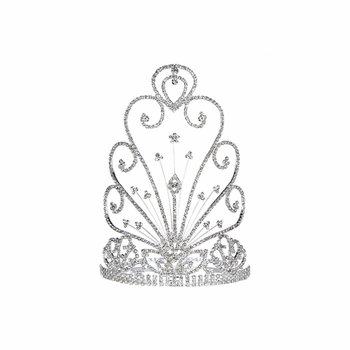 Pageant Crown: Ultimate Grand Supreme Tiara - 8 inches Tall