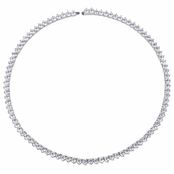 Paige's 16in Classic Round CZ Tennis Necklace
