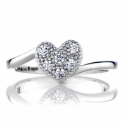 Paige's Petite Heart Charm Promise Ring