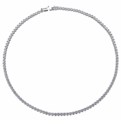 Pakuna's 16in Bezel Set Round CZ Tennis Necklace