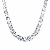 Palena's 16in Round Cubic Zirconia Tennis Necklace