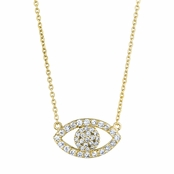 Pamela's 18in Gold Pave CZ Evil Eye Necklace