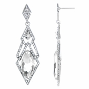 Pamella's Clear Red Carpet Style Drop Earrings