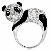 Papaya's Panda Cocktail Ring