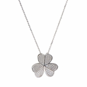 Parker's Silvertone Clover Necklace: Comparable To Sex and the City