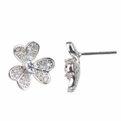 Parker's Silvertone Clover Earrings: Comparable To Sex and the City